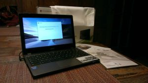 The Acer C720, up and running.
